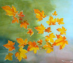 Batik leaves cloth dye 33 x39 sold