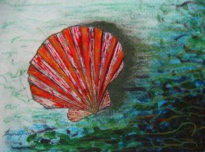 Shell acrylic on canvas 18x24