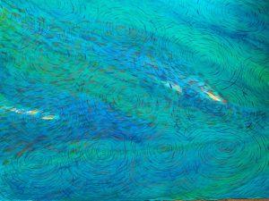 Sipadan series 'barracuda point' watercolour on paper (76 x 57)cm