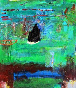 Backwater 2, acrylic on canvas 102 x 91cm