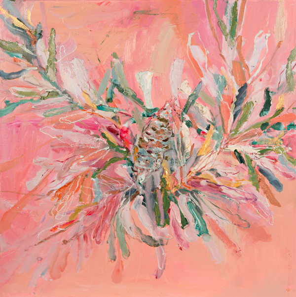Banksia Beauty, oil on linen, 64 x 64cm