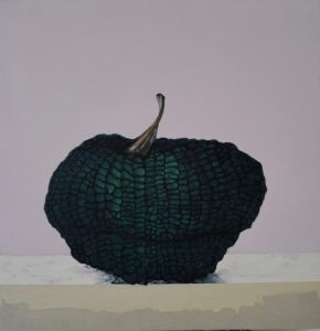 Blue pumpkin no 3, oil on linen, 86 x 84cm