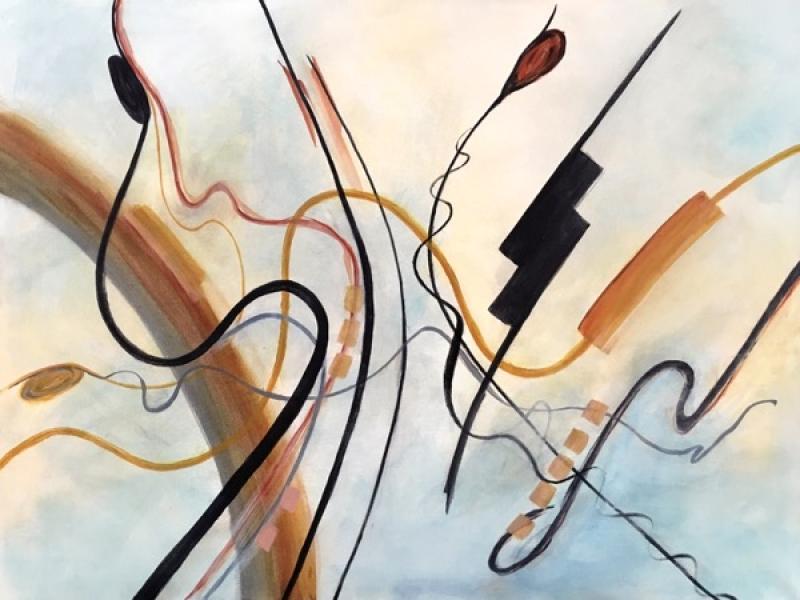 Bright Shield Skipper, acrylic on canvas, 101 x 76cm