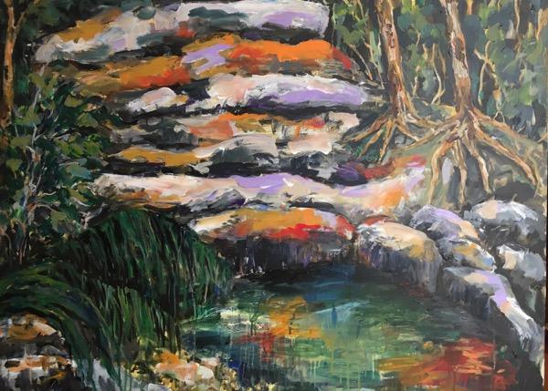 Bronte Gully III, acrylic on canvas, 75 x 102cm