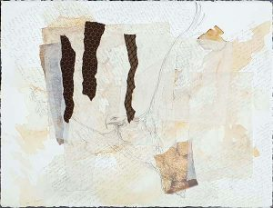 Ce n'est pas un aigle, mixed media on paper, 75 x 93cm (incl frame)