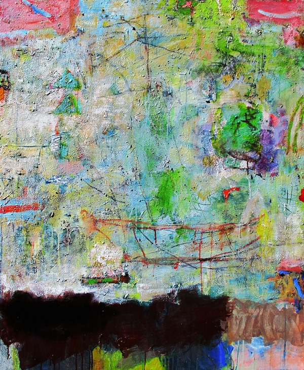Crater cove white, acrylic on canvas, 110 x 90cm