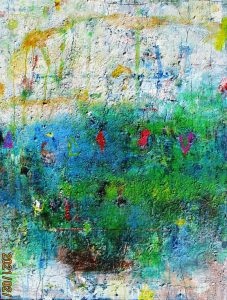 Crossing over 2, acrylic on canvas,122 x 92cm