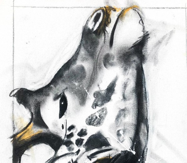Giraffe ii, mixed media on canvas 60 x 45 cm copy