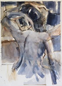 In a silent way 12, mixed media on paper, 78 x 56cm