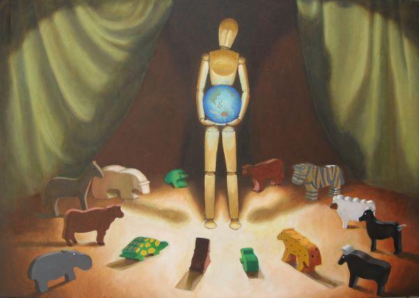Into the light, oil on canvas, 60 x 90cm