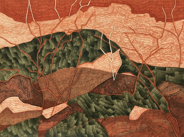 Kings Canyon 2 ink on paper, 57 x 76cm