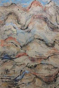 Landmarks 1, mixed media on linen, 102 x 77cm copy