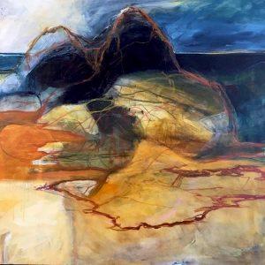 No one is an island, acrylic on canvas, 101 x 101cm copy