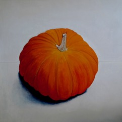 Pumpkin no 11, oil on linen, 84 x 84cm