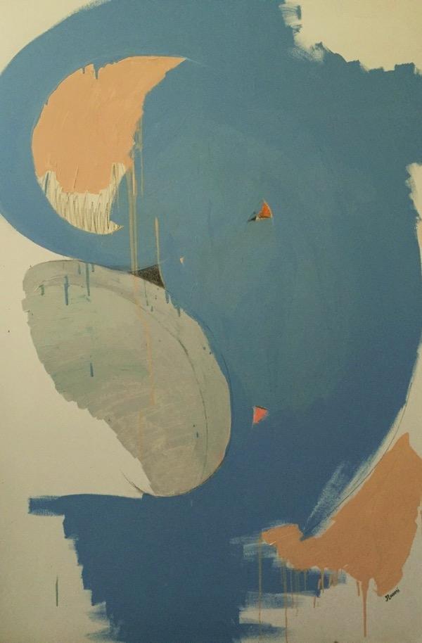 Transcend oil & pencil on canvas, 152 x 101 5cm