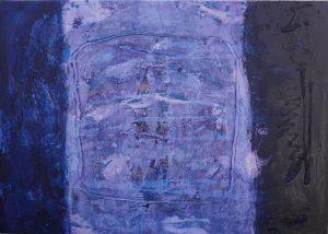 Untitled 2, acrylic & mixed media on canvas, 50 x 70cm