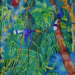 Bilit Jungle 1, watercolour on paper, 40 x 30cm