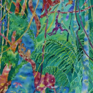 Bilit Jungle 2, watercolour on paper, 40 x 30cm