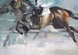 At the races 1 oil on canvas 122 x 92cm