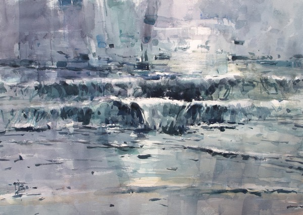 Bondi Beach watercolour on paper 56 x 76cm