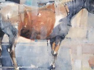 Electric horse watercolour on paper 56 x 76cm