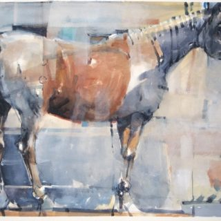 Electric horse watercolour on paper 56 x 76cm