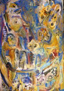 Folk tales oil & pastel on canvas 61 x 91cm
