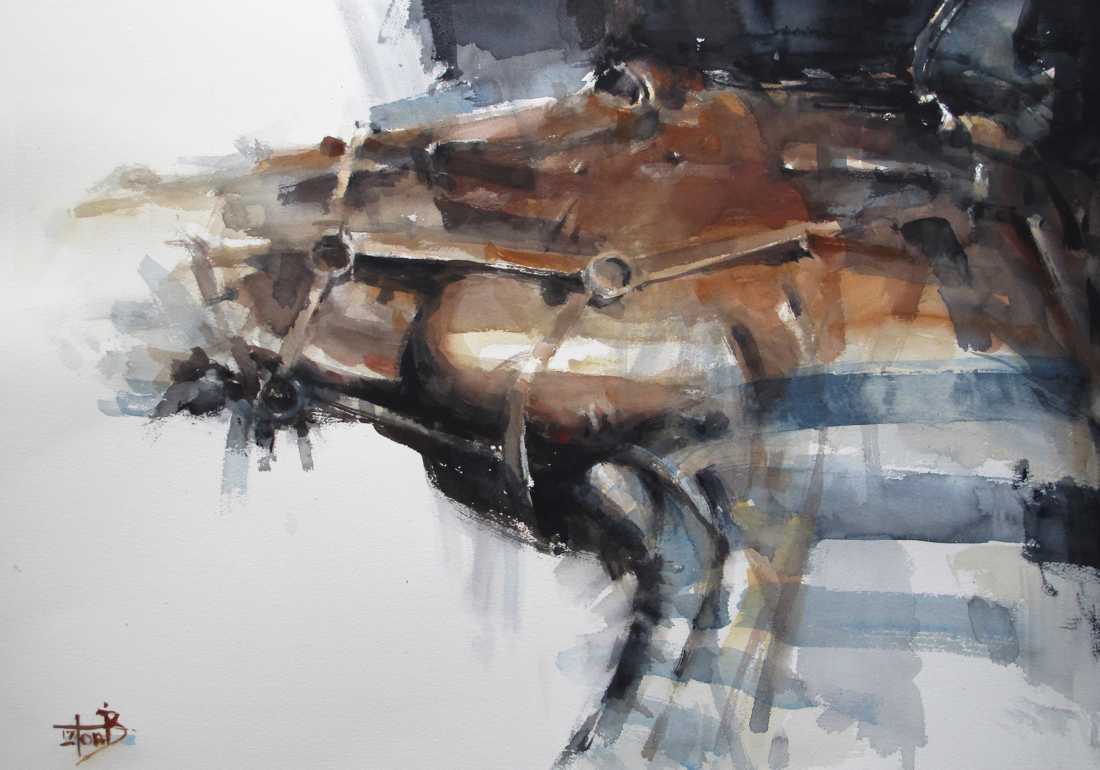 Head 1 watercolour 76 x 56 cm