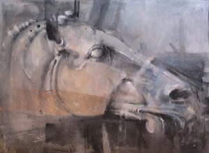Head 2 watercolour on paper 76 x 56 cm