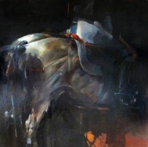 Horseman 1 oil on canvas 102 x 102cm