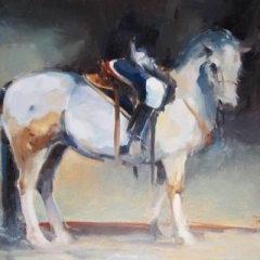 Horseman 2 oil on canvas 61 x 51cm