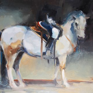 Horseman 2 oil on canvas 61 x 51cm