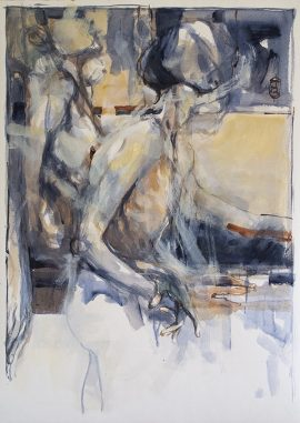 In a Silent Way 1, mixed media on paper, 78 x 56cm