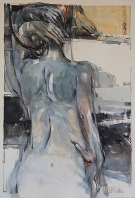 In a Silent Way 10, mixed media on paper, 78 x 56cm