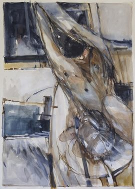 In a Silent Way 11, mixed media on paper, 78 x 56cm