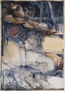 In a silent way 14, mixed media on paper, 78 x 56cm