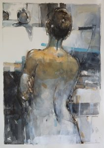 In a silent way 7, mixed media on paper, 78 x 54cm