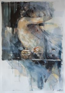 In a silent way 8, mixed media on paper, 78 x 54cm