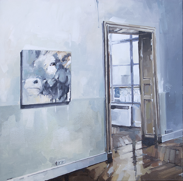 In my studio oil on canvas 76 x 76cm