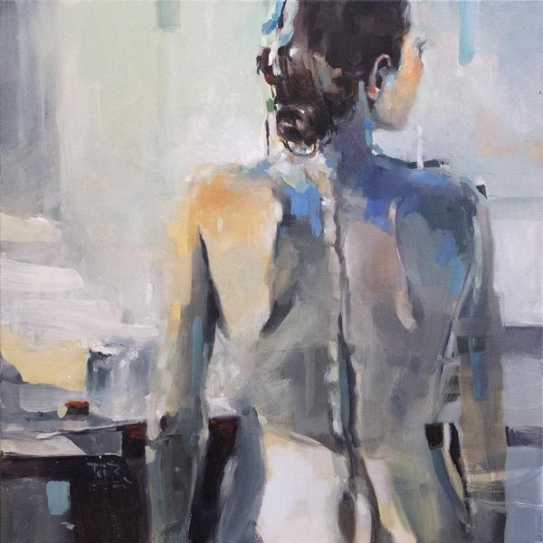 In my studio oil on canvas 61 x 61cm