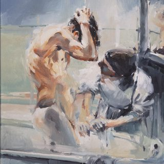 Maid-en bath oil on canvas 61x51cm