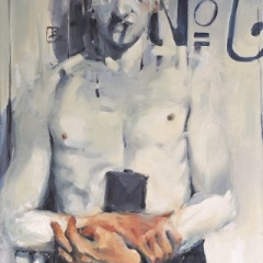 Man no 6 oil on canvas 61 x 51cm