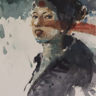 Not Quite Japanese, watercolour, 56 x 38cm