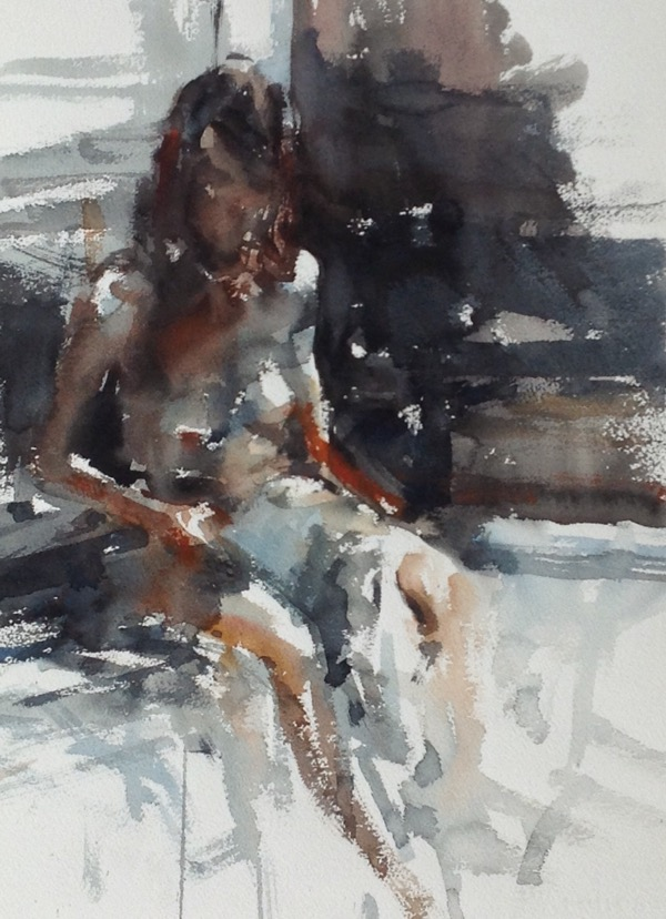Nude 3 watercolour on paper 56 x 38cm