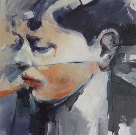 Portrait of a Young Boy, oil on panel, 30 x 30cm