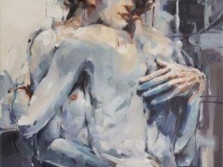 Quiet Days in clichy oil on canvas 61 x 51cm