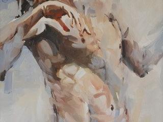 River Swim 2 oil on canvas 61 x 51cm