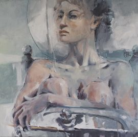 Seated Nude 2 oil on canvas 76 x 76cm