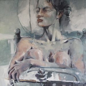 Seated nude 2 oil on canvas 76 x76
