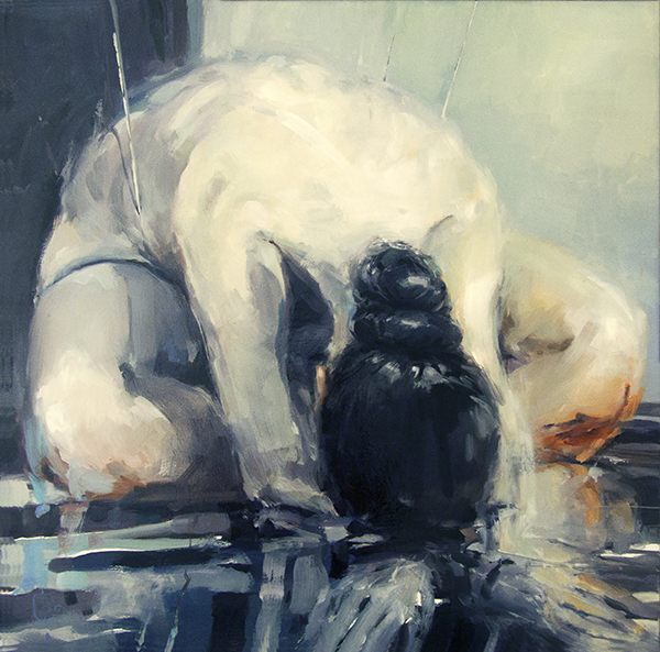 Seated Nude 3</em> oil on canvas, 76 x 76cm